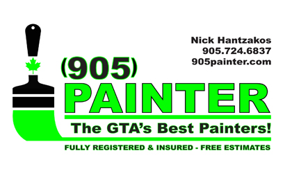 Gallery business card designs lawn yard bag signs in toronto gtas best painters business cards reheart Images
