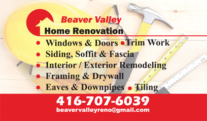 Gallery business card designs lawn yard bag signs in toronto beaver valley home renovation business cards reheart Images