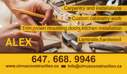 Gallery business card designs lawn yard bag signs in toronto carpentry business cards accmission