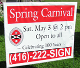 Printing Quality of carnival Lawn Sign