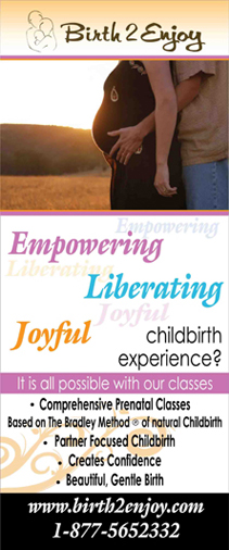 Birth 2 Enjoy Empowering Liberating Joyful Childbirth Experience Roll-up Banner