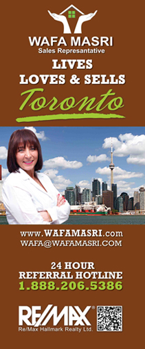 Wafa Masri Loves and Sells Toronto Rollup Banner