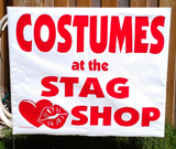 Costumes Lawn Signs