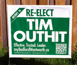 Tim Outhit Election Bag Sign
