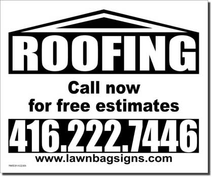 Roofing 24 x 20 Lawn Sign