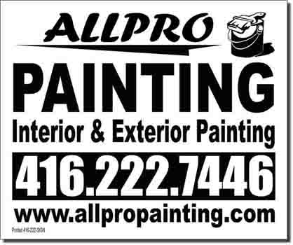 AllPro Painting Lawn Sign