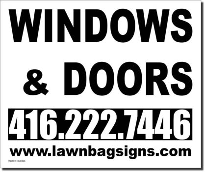 Windows and Doors 24 x 20 Lawn Bag
