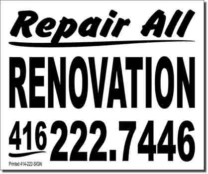 ReparilAll Renovation Lawn Sign