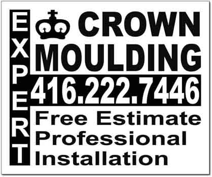 Crown Moulding Lawn Sign